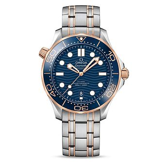 Omega Seamaster Diver Men's Two Colour Bracelet Watch - Product number 9177337