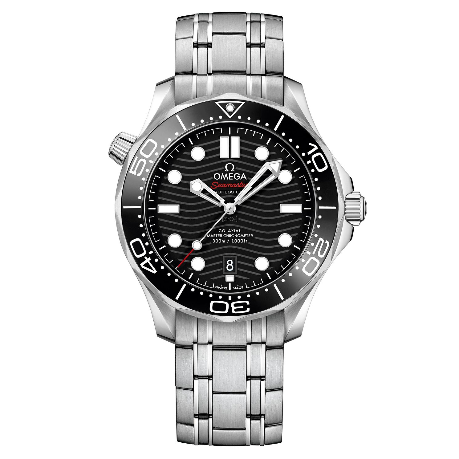 Omega Seamaster Diver Men's Stainless Steel Bracelet Watch - Product number 9178066