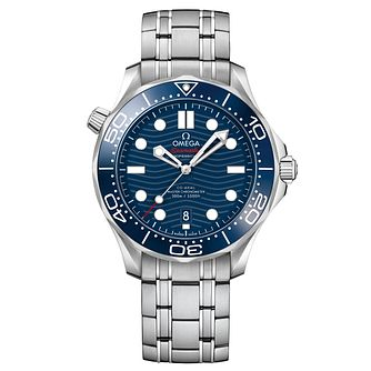 Omega Seamaster Diver Men's Stainless Steel Bracelet Watch - Product number 9178074