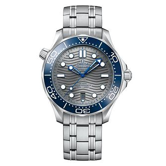 Omega Seamaster Diver Men's Stainless Steel Bracelet Watch - Product number 9178082