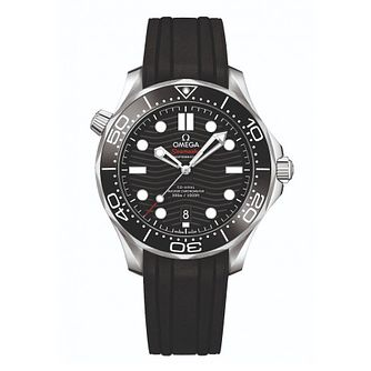 Omega Seamaster Diver Men's Black Rubber Strap Watch - Product number 9178090