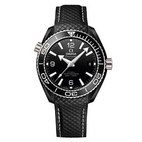Omega Seamaster Planet Ocean Men's Black Rubber Strap Watch - Product number 9178201