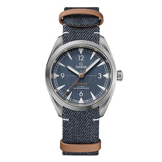 Omega Railmaster Men's Blue Strap Watch - Product number 9178341