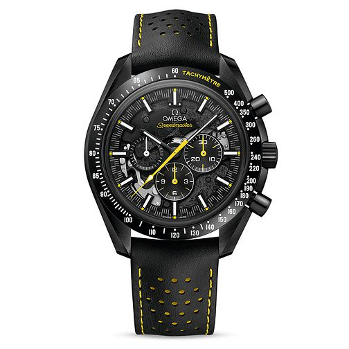 Omega Men's Speedmaster Moonwatch Black Leather Strap Watch - Product number 9178589