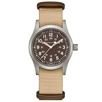 Hamilton Khaki Field Men's Light Brown Strap Watch - Product number 9192263