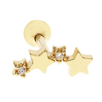 ee4d1ebe8 Bodifine 9ct Gold Cubic Zirconia Stars Tragus Single Stud - Product number  9192328