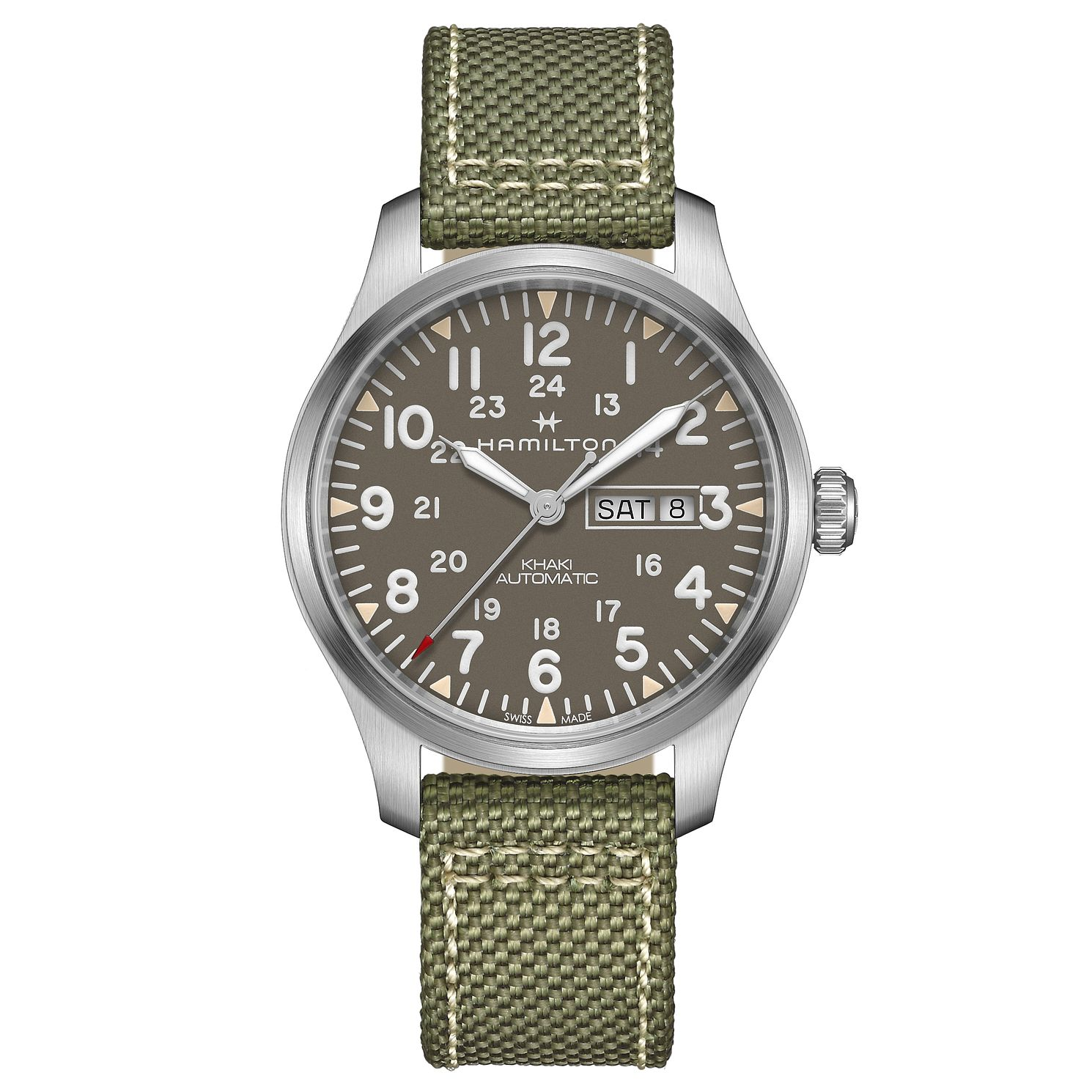 Hamilton Khaki Field Day-Date Camouflage Men's Strap Watch - Product number 9192409
