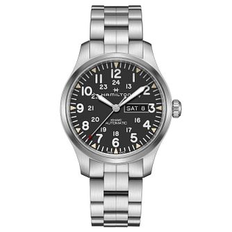 Hamilton Khaki Field Men's Stainless Steel Bracelet Watch - Product number 9192425