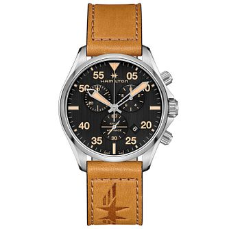 Hamilton Stainless Steel Aviation Strap Watch - Product number 9192646