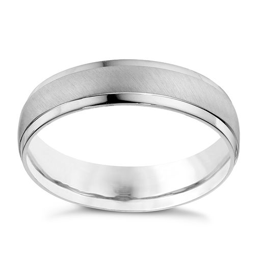 Men's Palladium 950 Matt & Polished 5mm Wedding Band - Product number 9200371