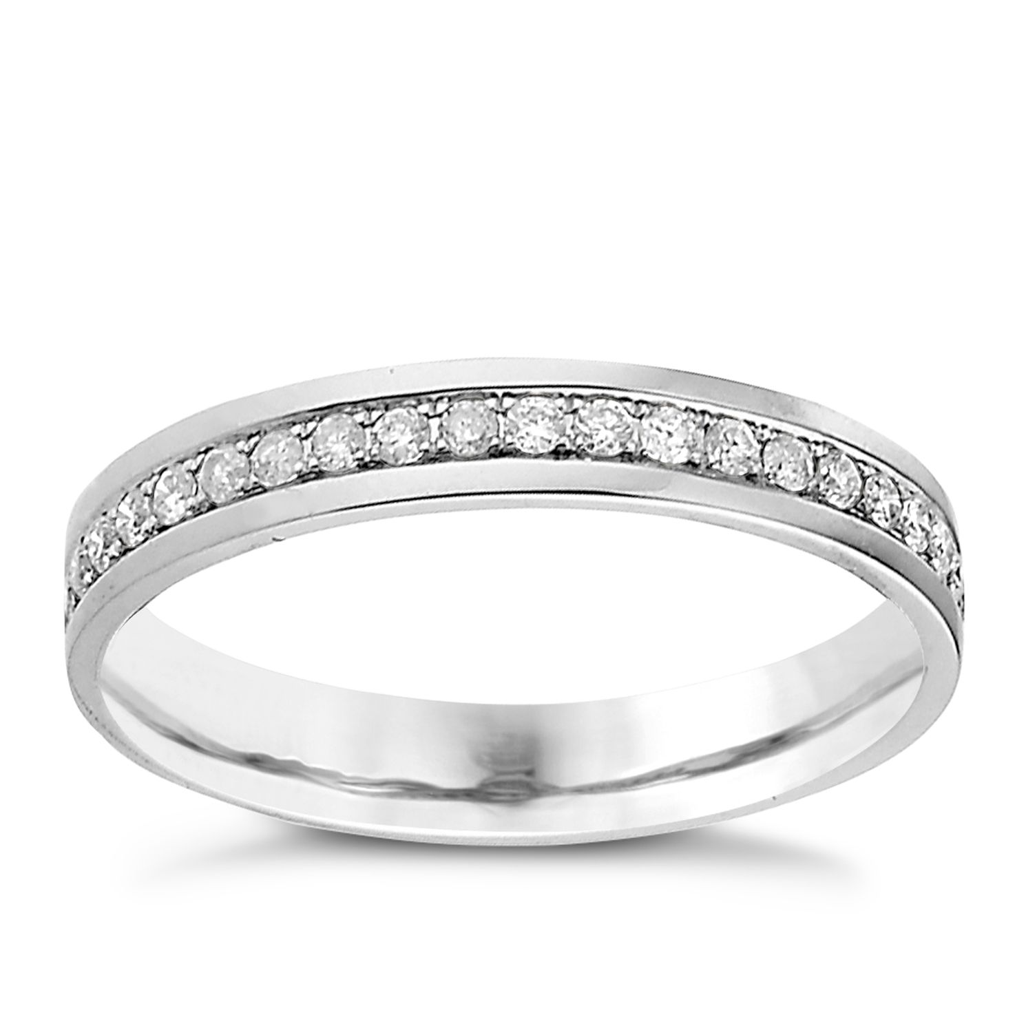 Palladium 950 Channel Set 0.25ct Diamond Wedding Ring - Product number 9201068