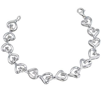 Silver Diamond Heart Bracelet - Product number 9207570
