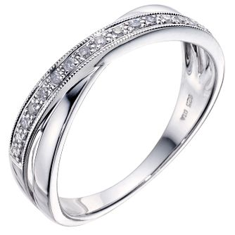 Sterling Silver & Diamond Ring - Product number 9208992
