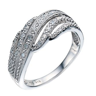Silver & Diamond Ring - Product number 9209824
