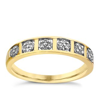 9ct Yellow Gold Diamond Band - Product number 9213201