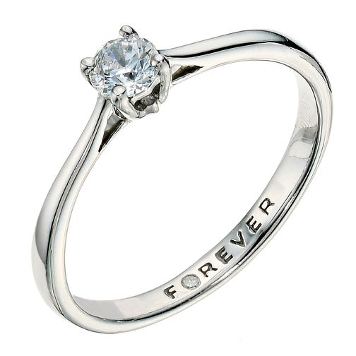 Palladium 1/4 Carat Forever Diamond Ring - Product number 9221018