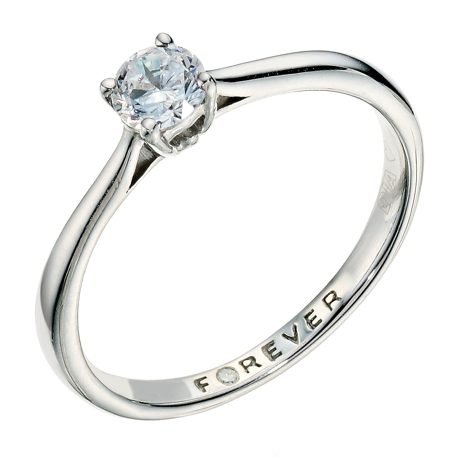 The Forever Diamond Palladium 0.33ct Ring - Product number 9222715