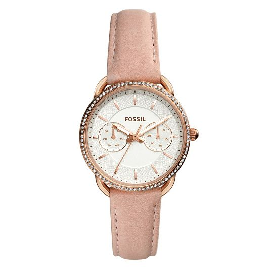 Fossil Tailor Ladies' Rose Gold Tone Stone Set Strap Watch - Product number 9227040