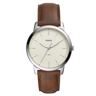 Fossil The Minimalist Men's Brown Strap Watch - Product number 9227075