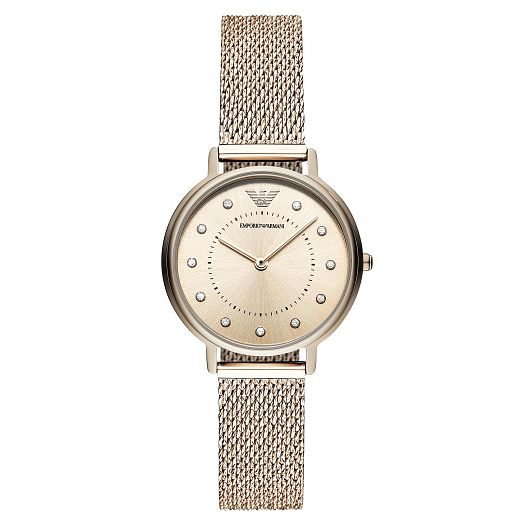 Emporio Armani Ladies' Rose Gold Tone Mesh Bracelet Watch - Product number 9227105