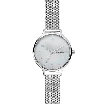 Skagen Anita Ladies' Stainless Steel Mesh Bracelet Watch - Product number 9227172