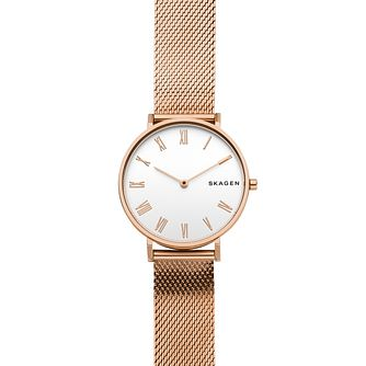 Skagen Hald Ladies' Rose Gold Tone Mesh Bracelet Watch - Product number 9227210