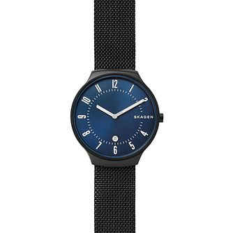Skagen Grenen Men's Black Ion Plated Mesh Bracelet Watch - Product number 9227229