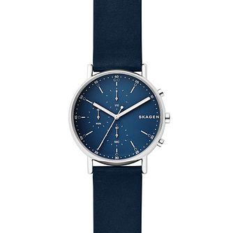 Skagen Signatur Men's Blue Chronograph Strap Watch - Product number 9227237