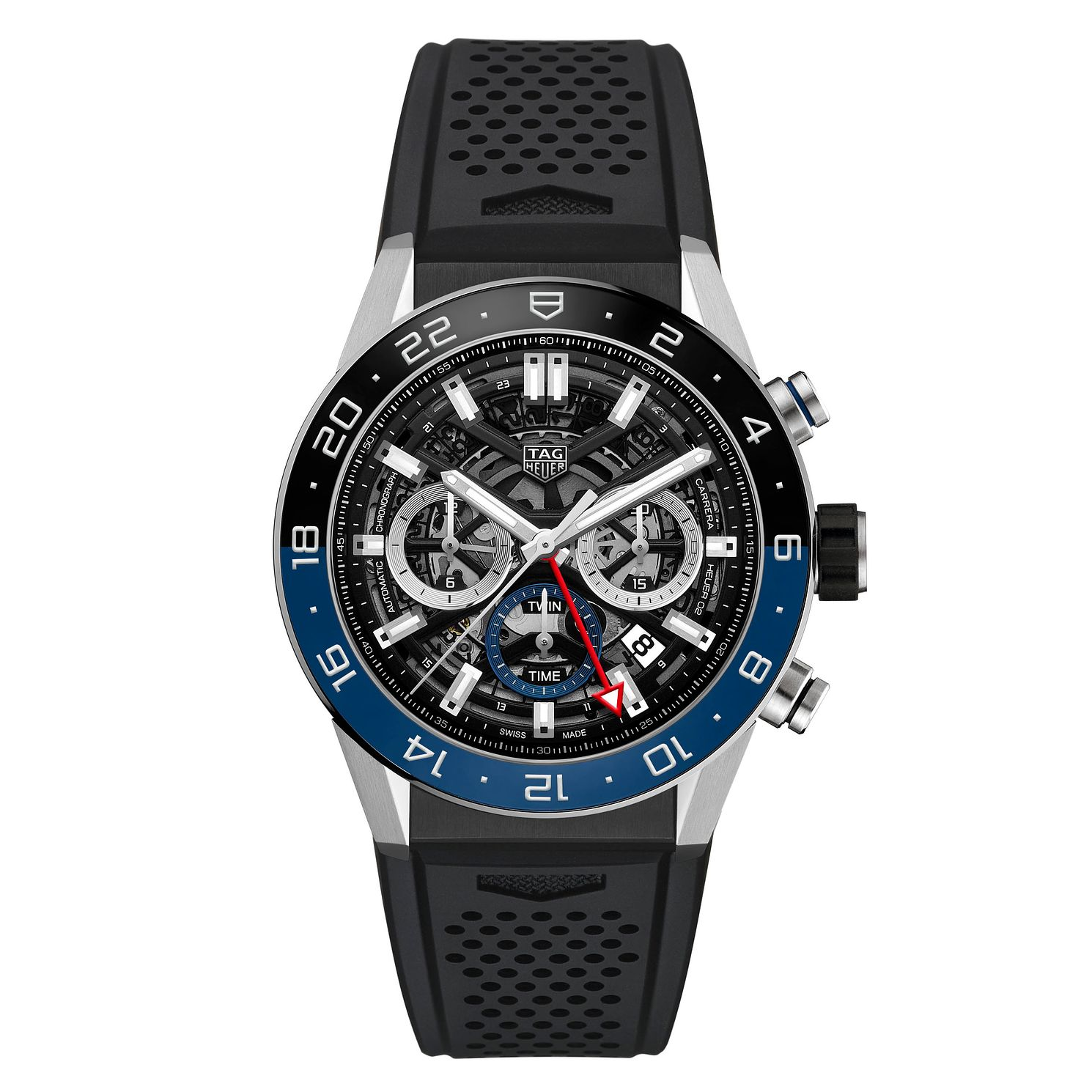 TAG Heuer Carrera Men's Black Rubber Strap Watch - Product number 9232117