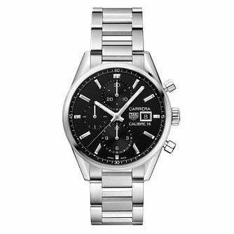 TAG Heuer Carrera Men's Stainless Steel Bracelet Watch - Product number 9232125
