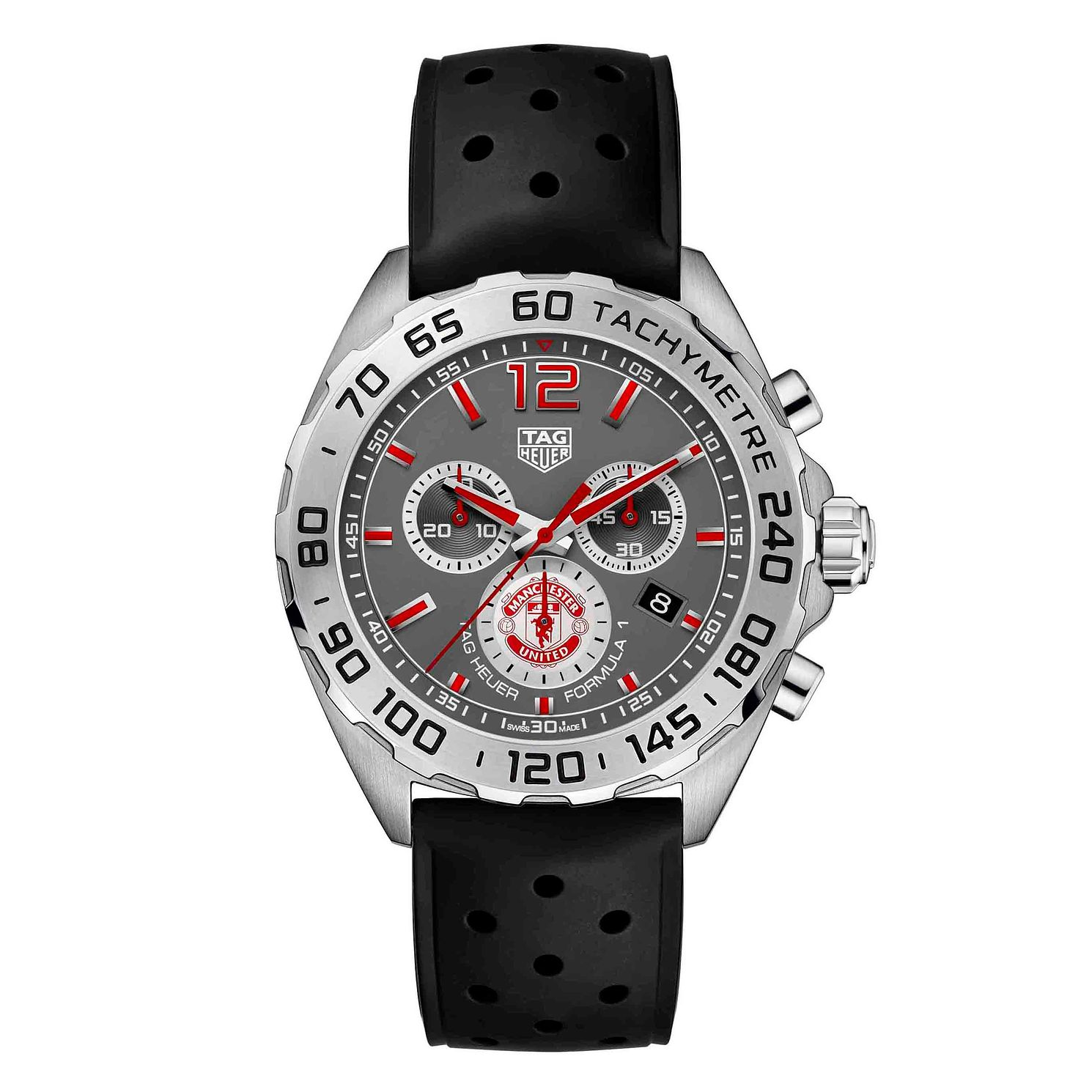TAG Heuer Formula 1 Men's Mufc Black Rubber Strap Watch - Product number 9232192