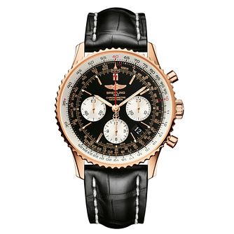 Breitling Navitimer 01 Men's Black Leather Strap Watch - Product number 9243283