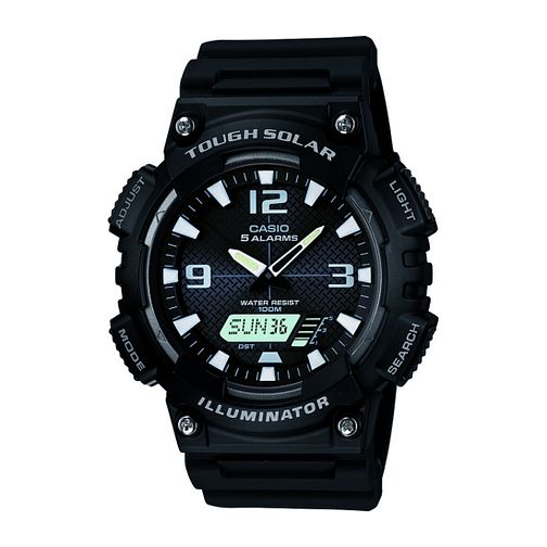 Casio Solar Men's Black Resin Strap Watch - Product number 9248781