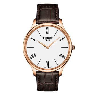 Tissot Traditional Men'S Rose Gold Plated Strap Watch - Product number 9269029