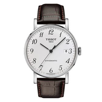 Tissot Everytime Swissmatic Men's Leather Strap Watch - Product number 9269045