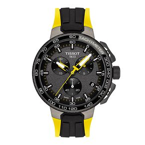Tissot T-Race Men's Cycling Black Yellow Rubber Strap Watch - Product number 9269061