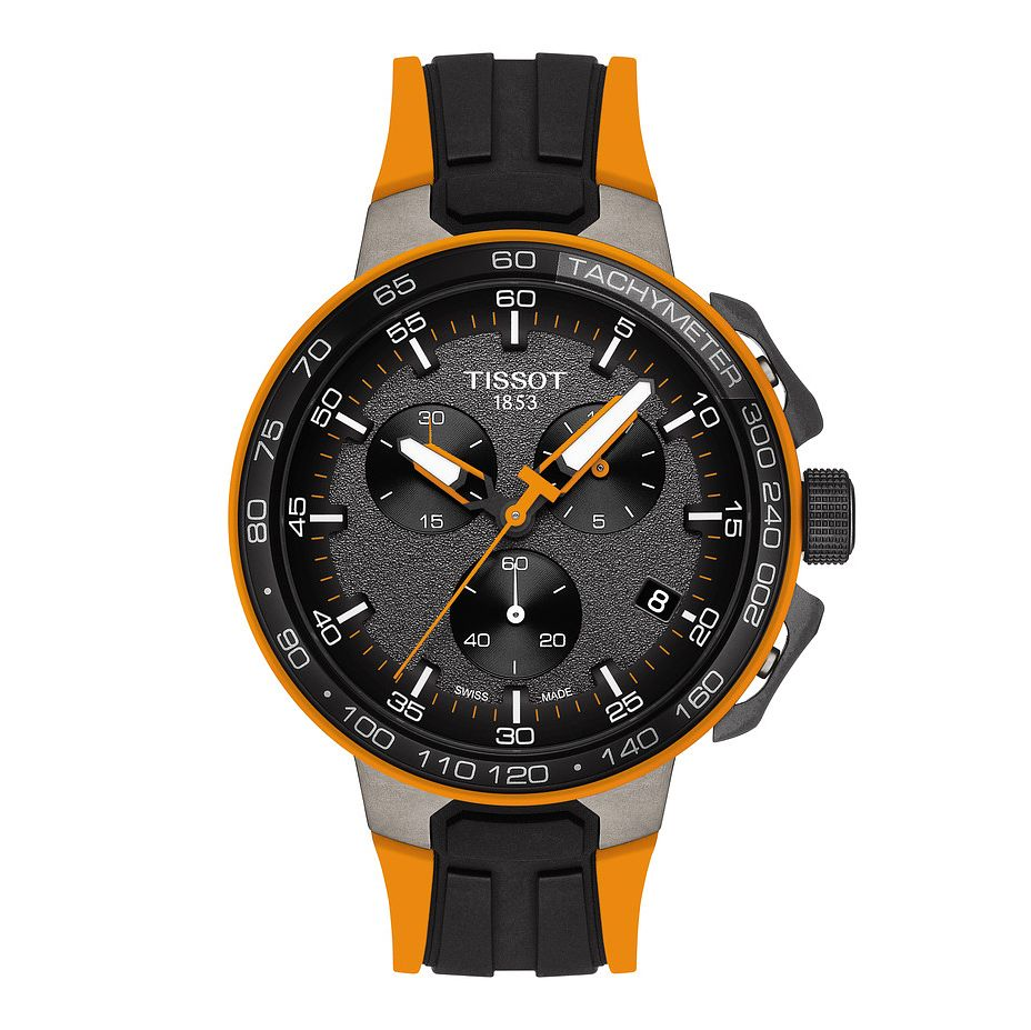 Tissot T-Race Men's Cycling Black Orange Rubber Strap Watch - Product number 9269096