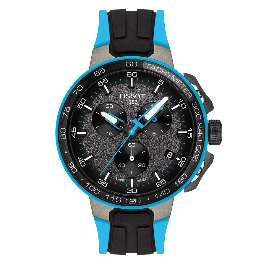 Tissot T-Race Men's Cycling Black Blue Rubber Strap Watch - Product number 9269150