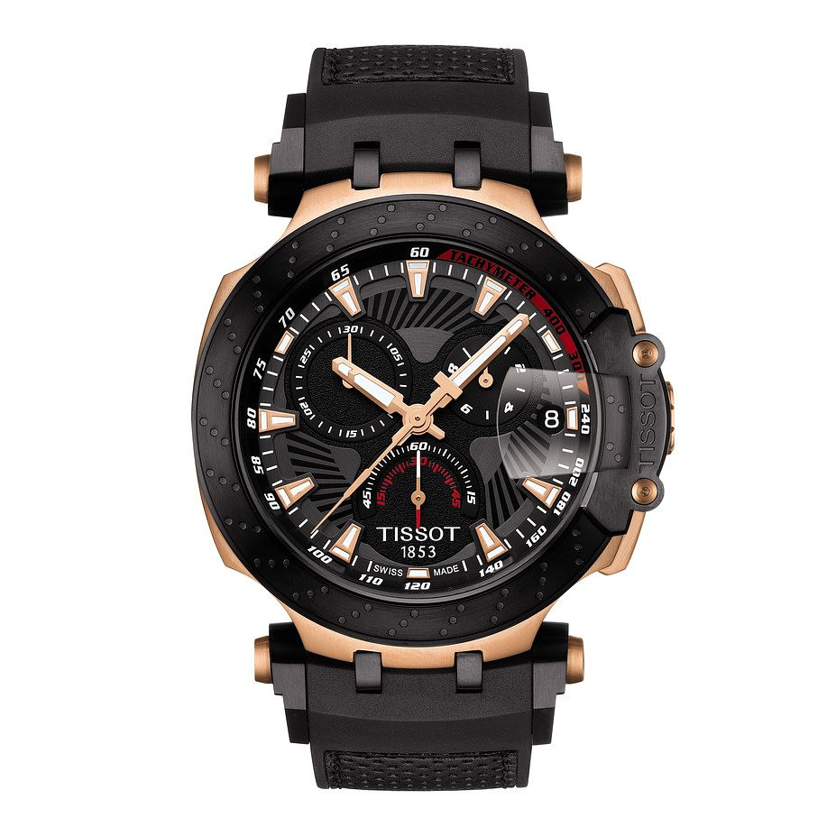 Tissot T-Race Moto Gp Men's Rose Gold Plated Strap Watch - Product number 9269592