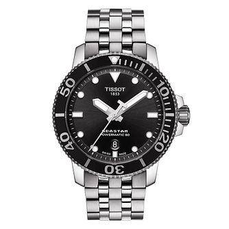 Tissot Seastar 1000 Black Strap Watch - Product number 9272186