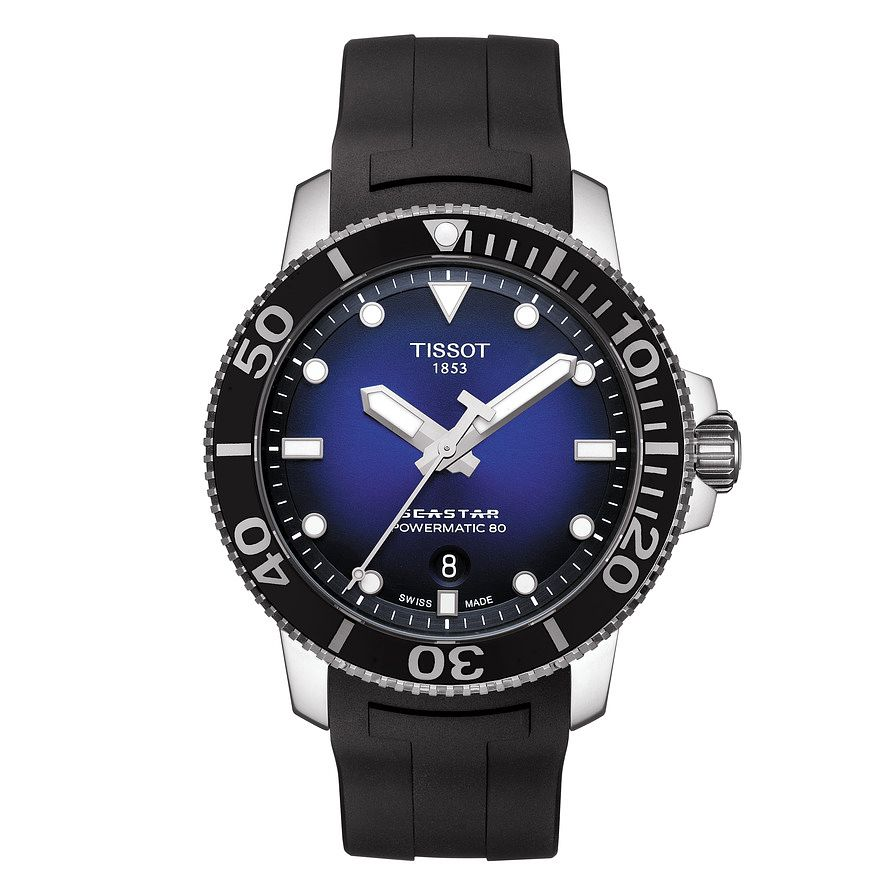 Tissot Seastar 1000 Men's Black Rubber Strap Watch - Product number 9272232
