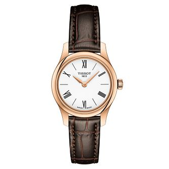Tissot Traditional Ladies' Rose Gold Plated Strap Watch - Product number 9273573