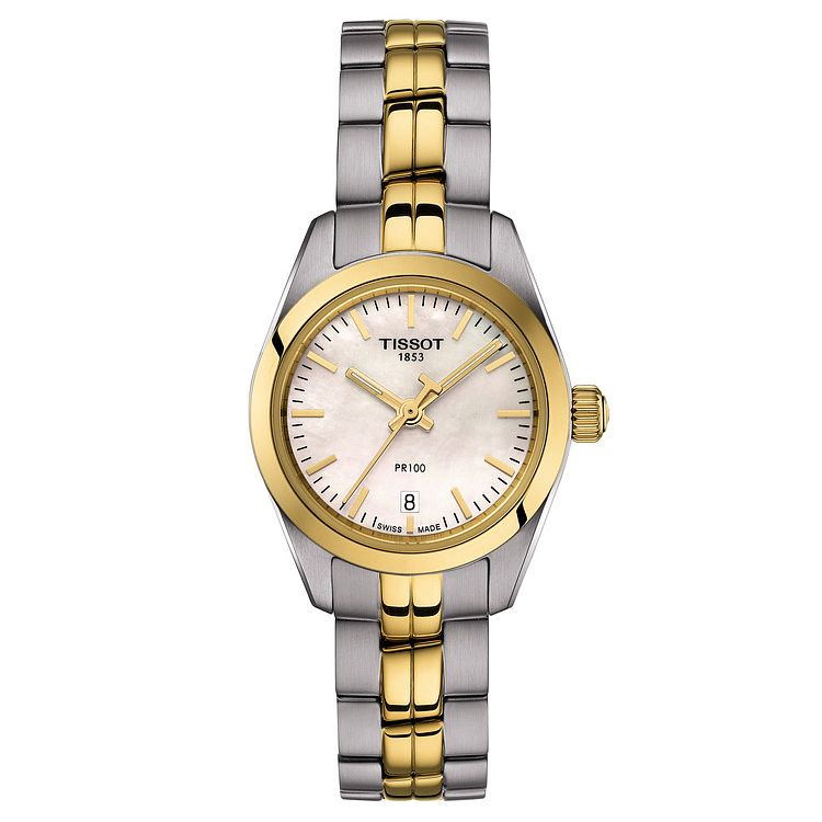 Tissot Ladies' Pr 100 Two Tone Bracelet Watch - Product number 9273751