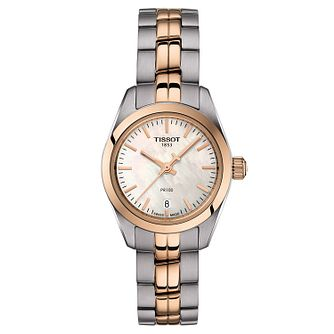 Tissot Ladies' Pr 100 Two Tone Bracelet Watch - Product number 9273778