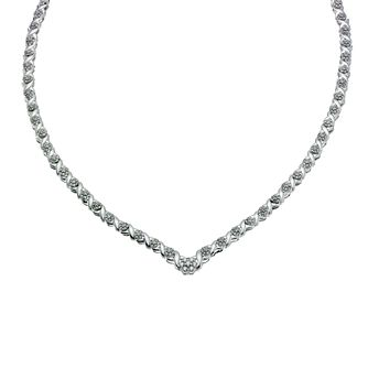 9ct White Gold 1 ½ ct Diamond Cluster Collar - Product number 9277188