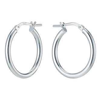 Silver Plain Creole Earrings - Product number 9285261