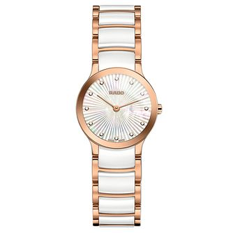 Rado Centrix Ladies' Two Tone Mother Of Pearl Watch - Product number 9299262