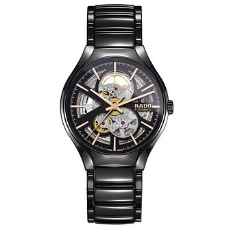 Rado True Thinline Skeleton Men's Black Ceramic Watch - Product number 9299920