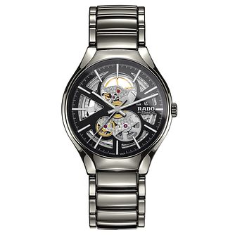Rado True Thinline Skeleton Men's Grey Bracelet Watch - Product number 9299939