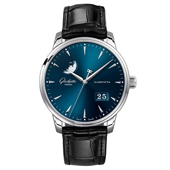 Glashutte Senator Excellence Men's Black Leather Strap Watch - Product number 9300139